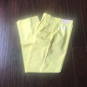 Vintage Yellow NWT Pleat Front Dress Pants Sz 14